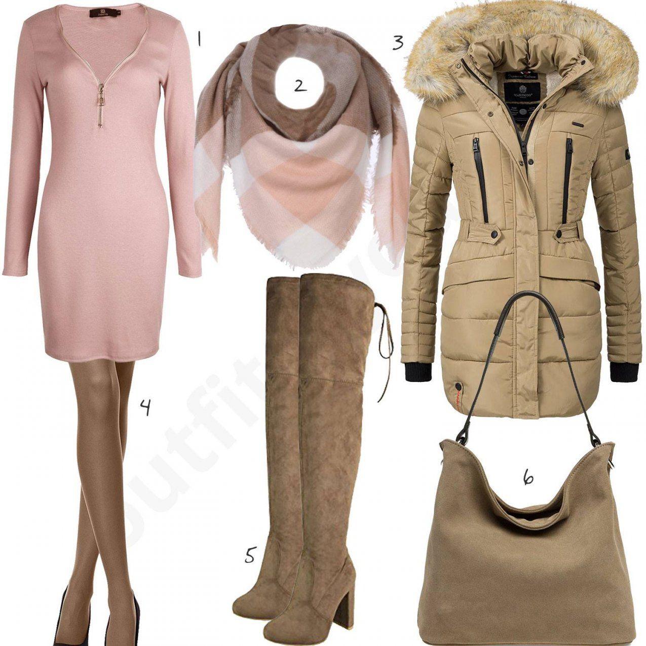 10 Winterdamenoutfits Mit Kleid Jacke Mütze Und Schal von Welche Farbe Passt Zu Beige Kleidung Photo