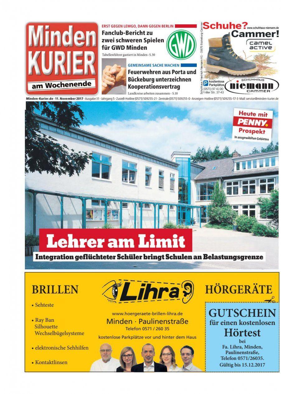 11 November 2017 – Lehrer Am Limitminden Kurier  Issuu von Porta Möbel Minden Verkaufsoffener Sonntag Bild