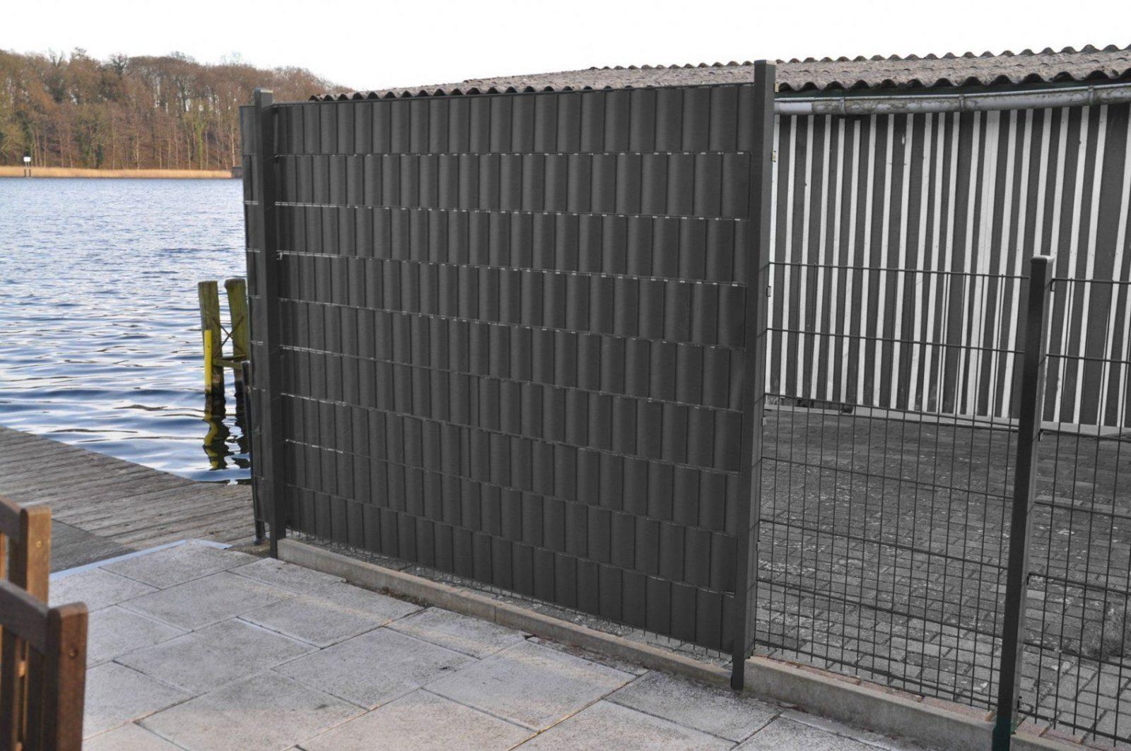 20 Pvc Grüngrau Klemmleisten Für Sichtschutz Klemmschienen von Pvc Sichtschutz Für Doppelstabmatten Bild