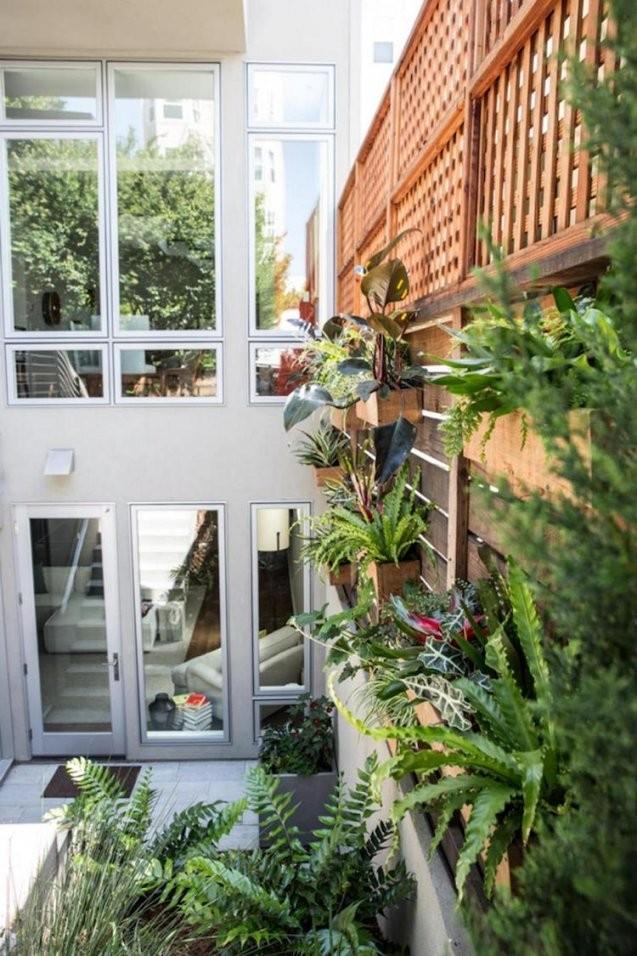 21 Gartenabtrennung Ideen Für Das Stadthaus von Sichtschutz Zum Nachbarn Ideen Bild