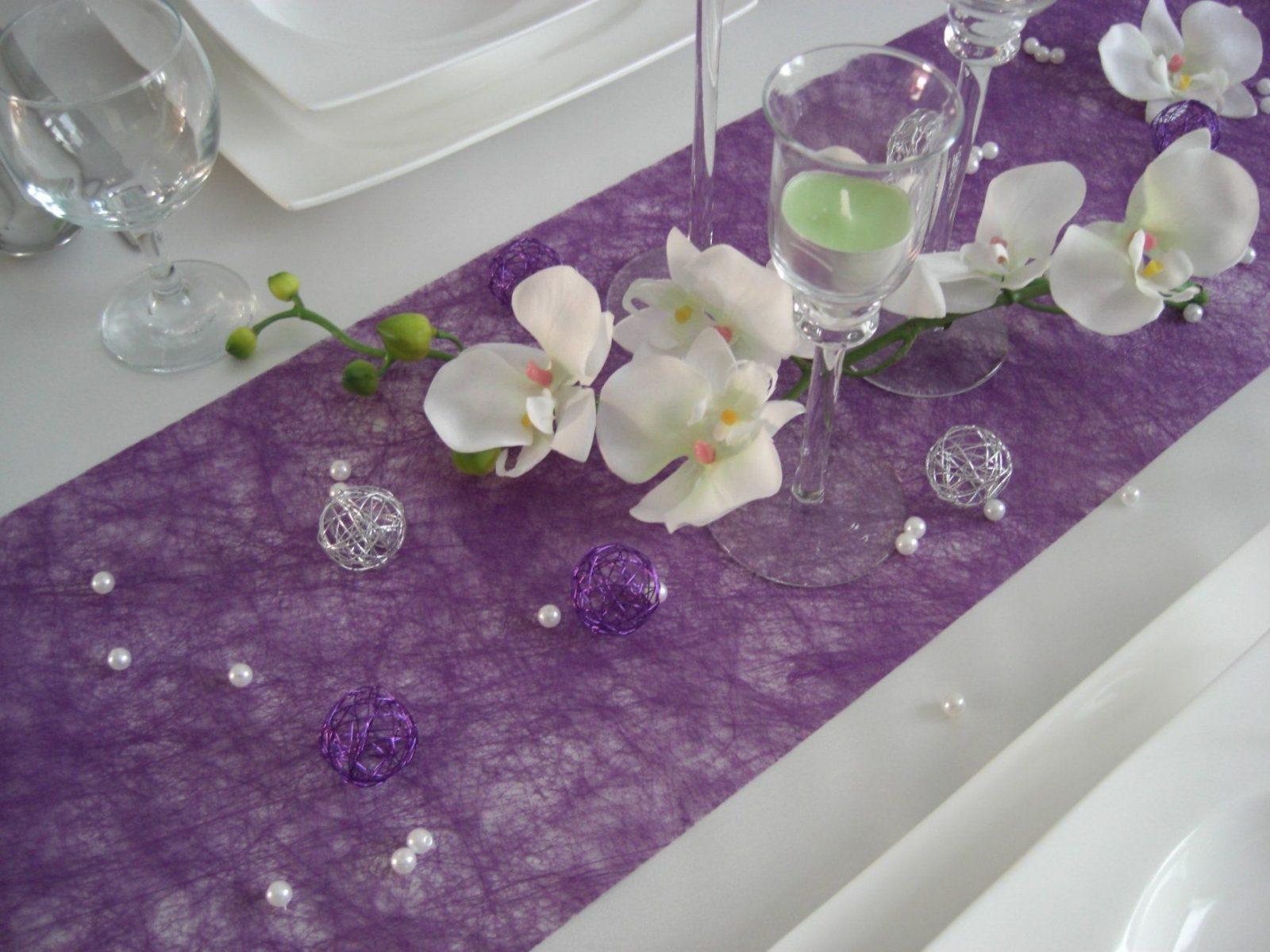 23 Elegant Bewertungen Betreffend Lila Deko Hochzeit  Hochzeit von Tischdeko Hochzeit Lila Weiß Bild