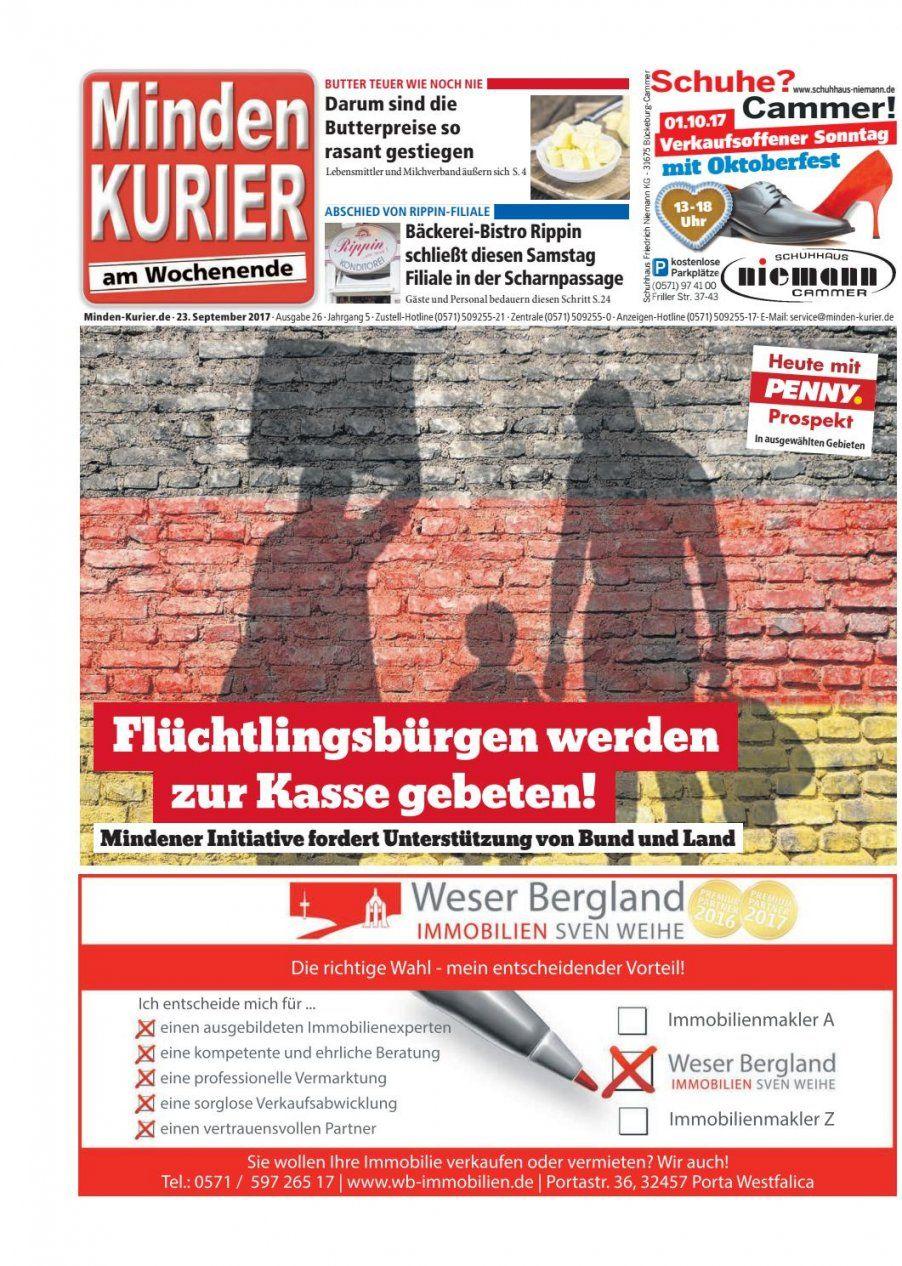 23 September 2017 – Flüchtlingsbürgen Werden Zur Kasse Gebeten von Porta Möbel Minden Verkaufsoffener Sonntag Bild