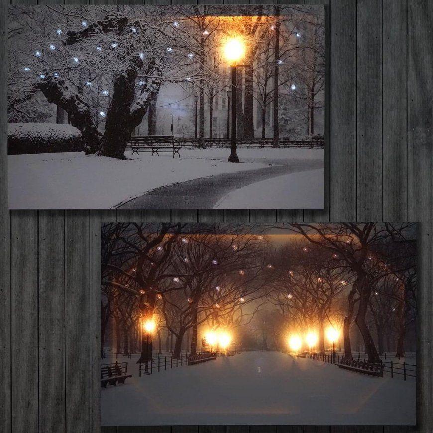 2X Ledbild Leinwandbild Leuchtbild Wandbild  Real von Led Leinwandbild Selber Machen Photo