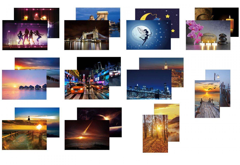 2X Ledbild Mit Beleuchtung Leinwandbild Leuchtbild Wandbild von Led Leinwandbild Selber Machen Bild