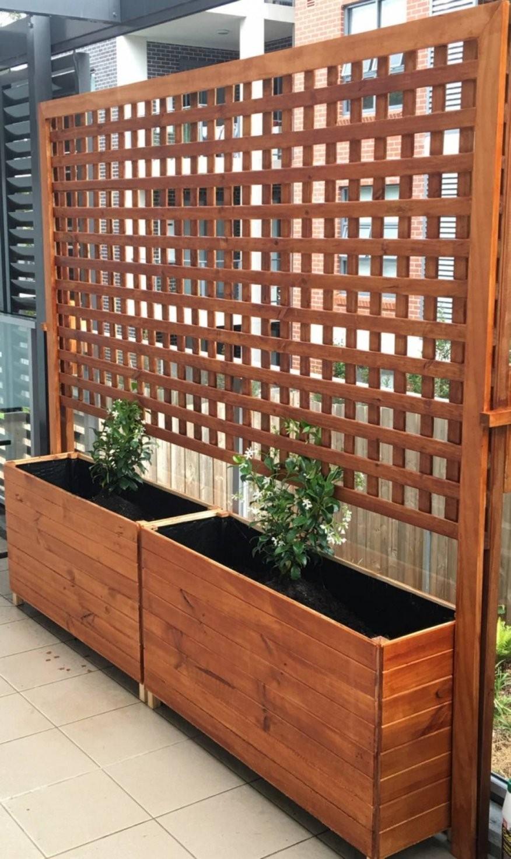 Garten Sichtschutz Mit Blumenkasten Haus Design Ideen