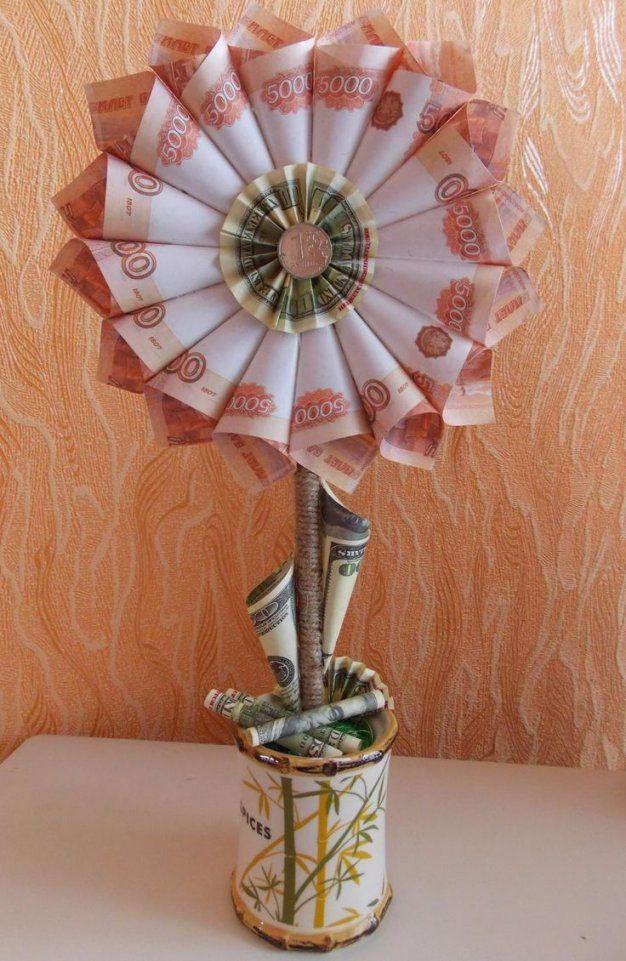 350 Besten Geldgeschenke Bilder Auf Pinterest  Geld Geld Falten von Geldgeschenk Blume Im Topf Bild