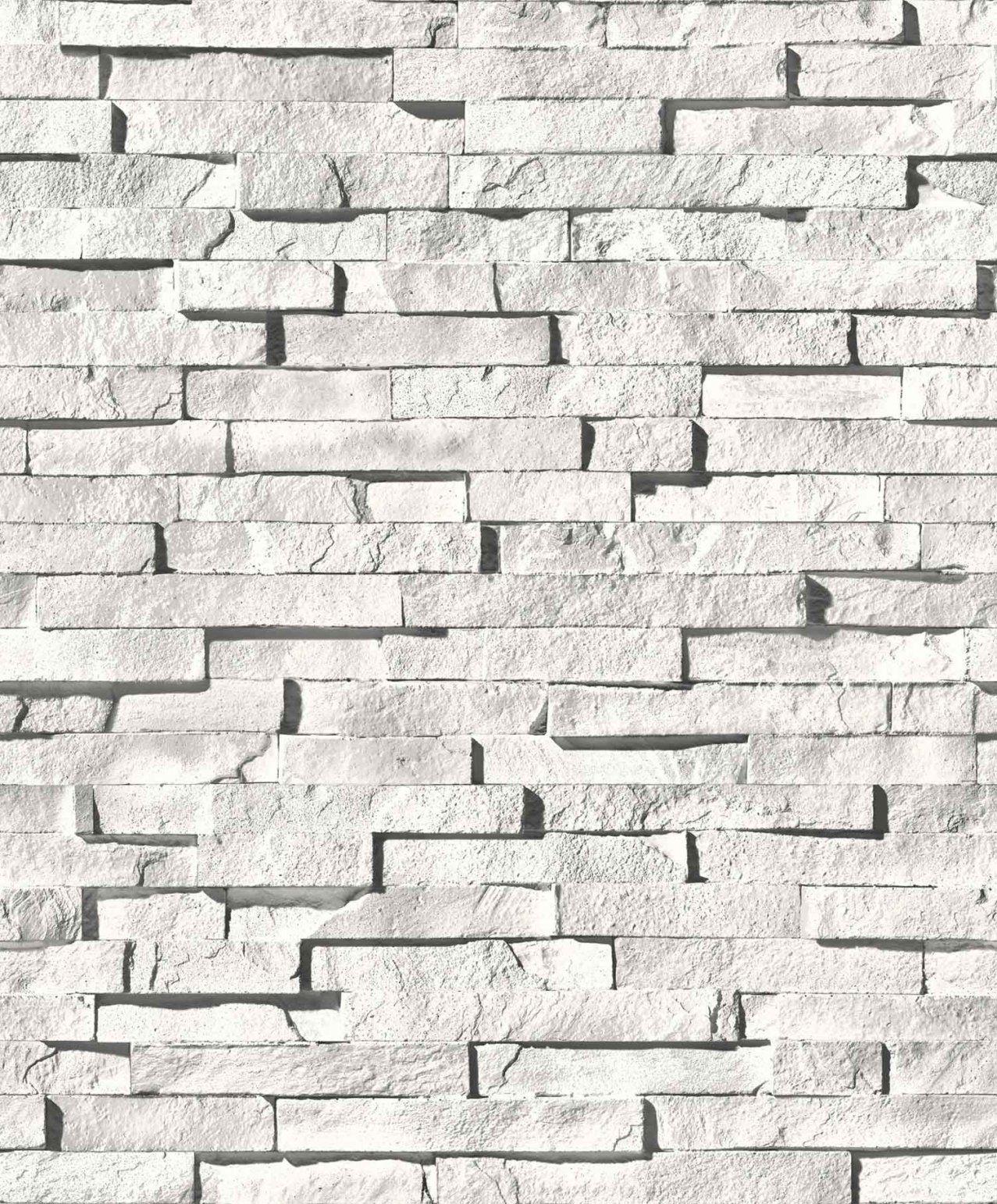 3D Tapete Stein von Stein Tapete 3D Weiß Bild