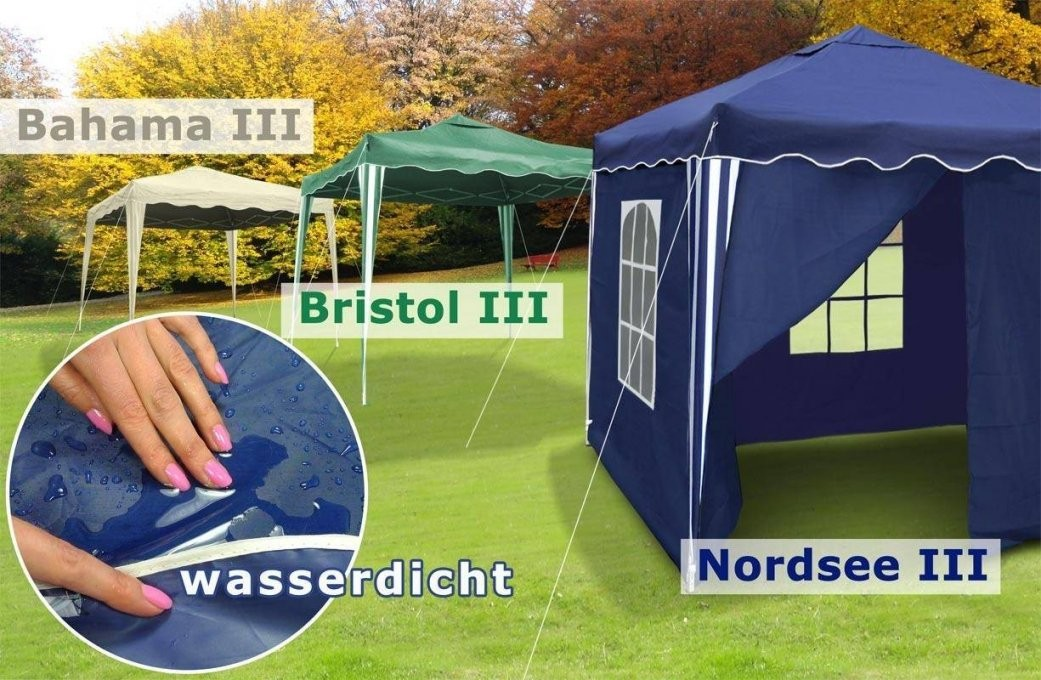 3X3M Falt Pavillon Pvc Garten Party Pavillion Zelt Blau Grün Beige von Falt Pavillon 3X3M Wasserdicht Photo