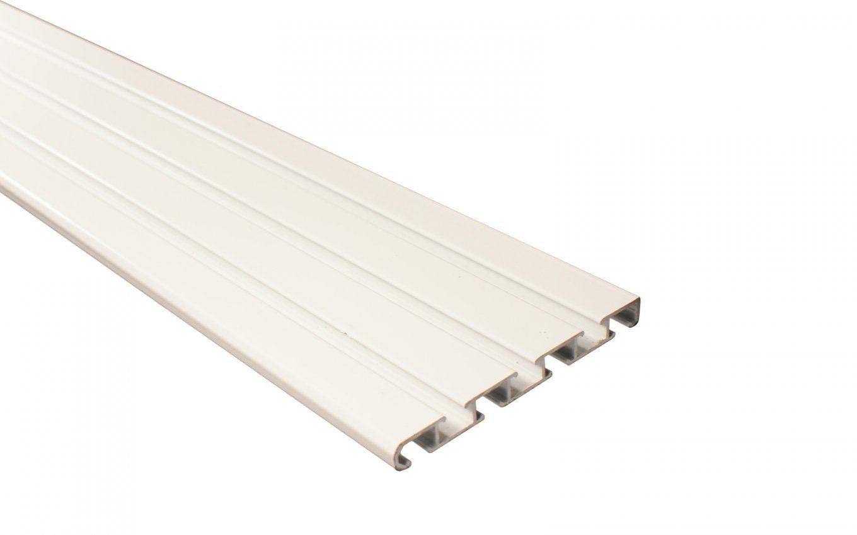 4 Läufige Gardinenschiene Aus Aluminium Weiß Vorgebohrt von Gardinenschiene Alu 3 Läufig Bild