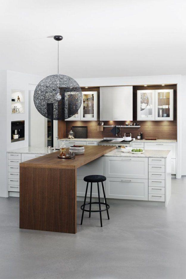 46 Besten Küche Mit Bartheke Bilder Auf Pinterest  Arbeitsplatte von Küche Mit Theke Ideen Bild