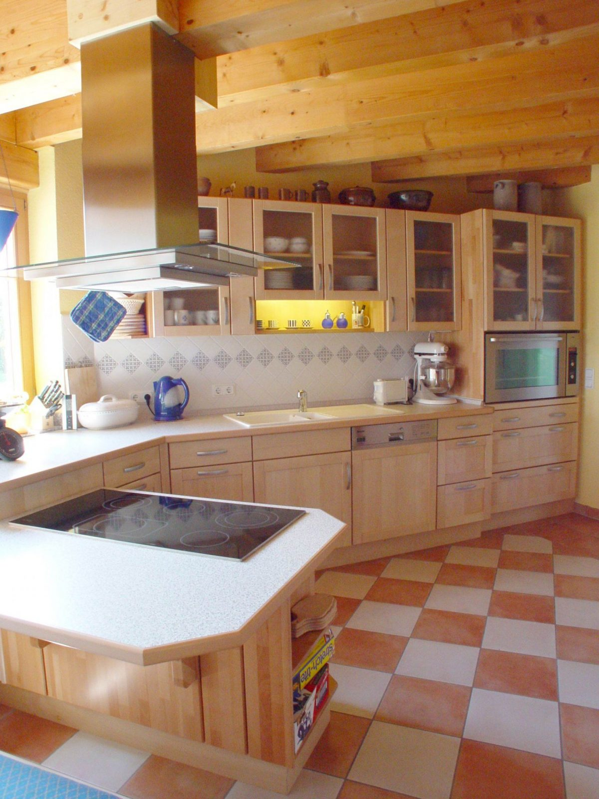 4Holzkuechekochinsel von Küchen U Form Mit Kochinsel Bild