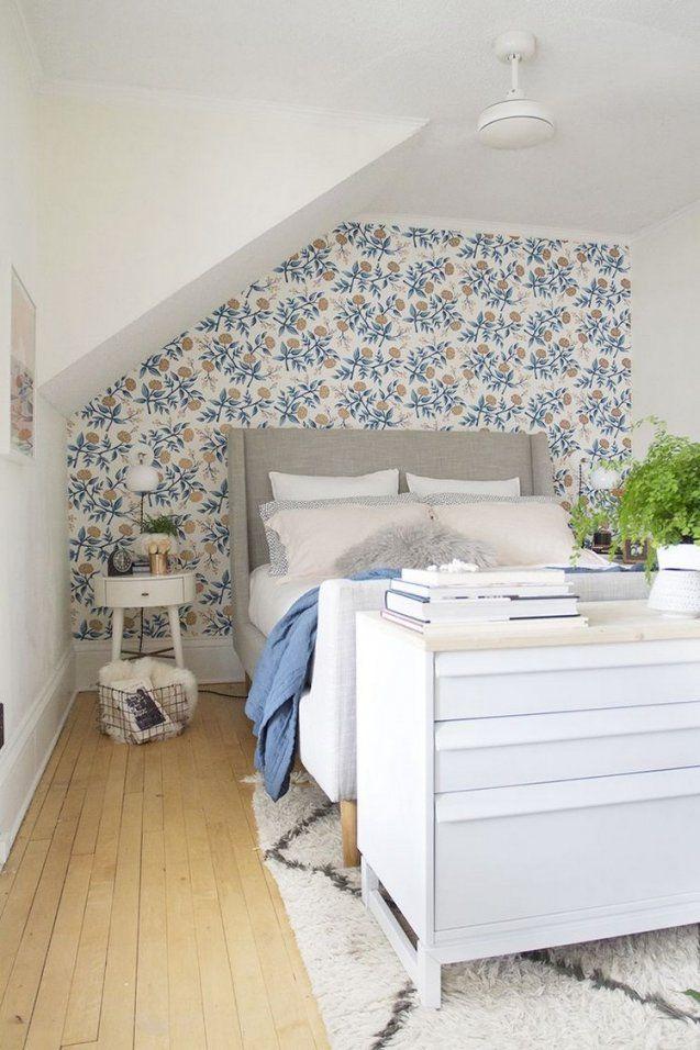 55 Dachschräge Ideen Möbel Geschickt Im Raum Platzieren Von Tapeten  Schlafzimmer Mit Schräge Photo