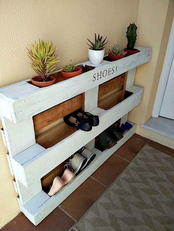 58 Brilliant Shoes Rack Design Ideas  Grau von Schuhregal Aus Paletten Selber Bauen Bild