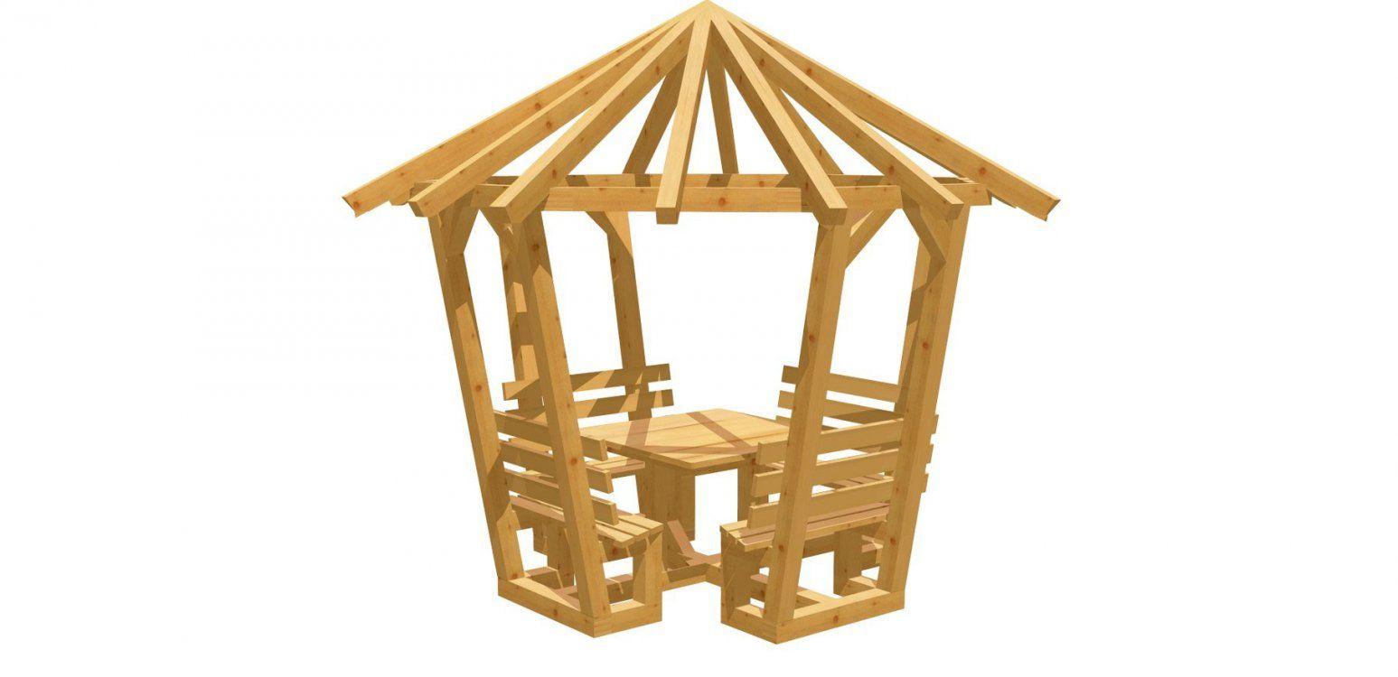 8Eck Pavillon Selber Bauen  Holzbauplan von Pavillon 8 Eckig Holz Bauanleitung Bild
