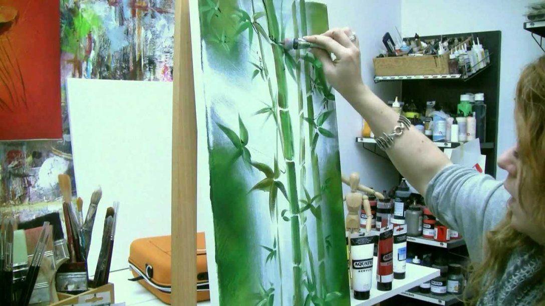Acrylmalen Malen Lernen Anleitung Zum Bambus Acrylic Painting von Acrylbilder Für Anfänger Anleitung Bild