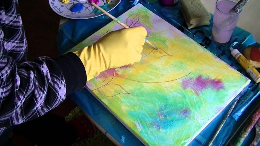 Acrylmalerei Für Anfänger  Acrylic Painting For Beginners  Youtube von Acrylbilder Für Anfänger Anleitung Bild