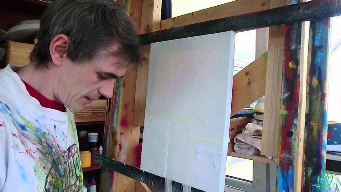 Acrylmalerei  Strukturpaste Herstellen Teil 1  Youtube von Acrylbilder Mit Strukturpaste Anleitung Photo