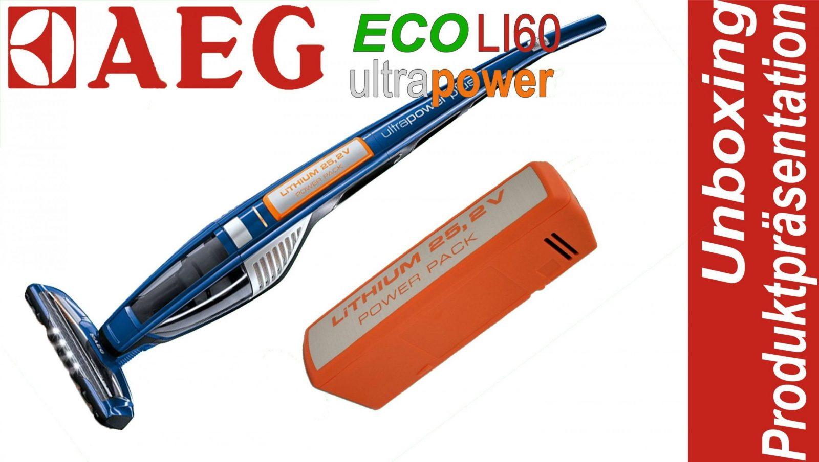 Aeg Eco Li60 Ultra Power Akkustaubsauger  Unboxing Und von Aeg Eco Li 60 Ultrapower Bild