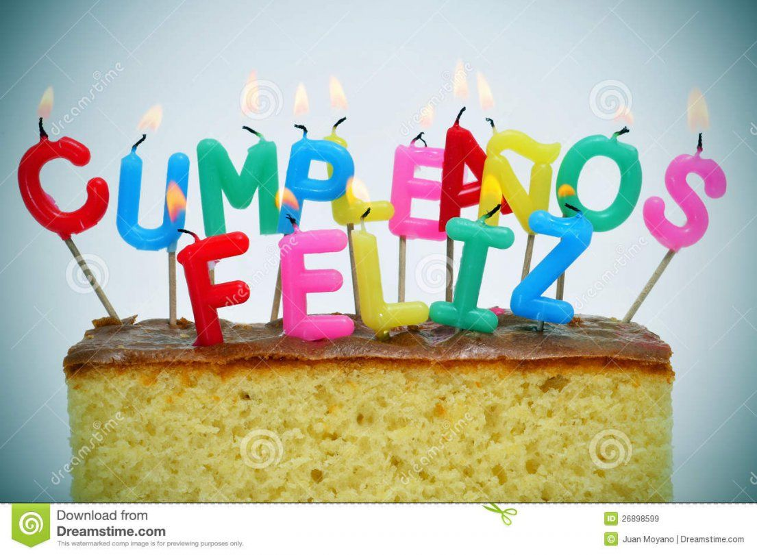 Alles Gute Zum Geburtstag Geschrieben Auf Spanisch Stockbild  Bild von Alles Gute Auf Spanisch Photo
