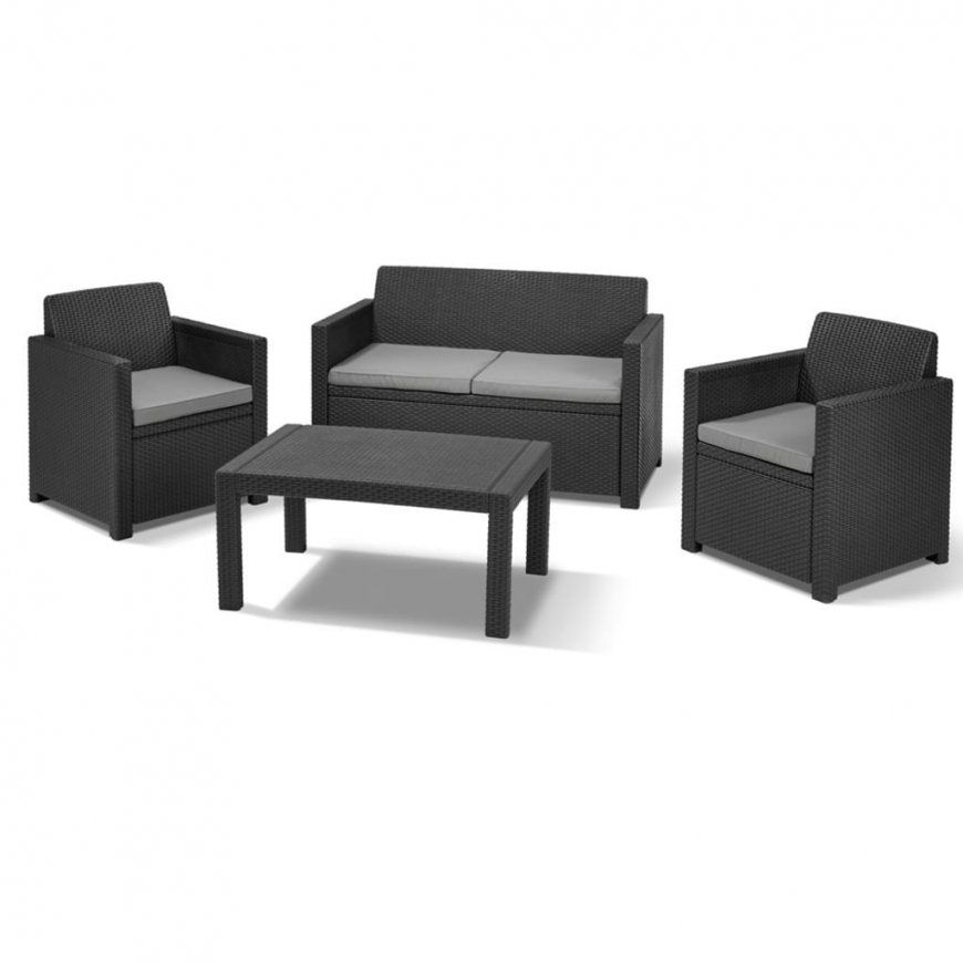 Allibert Lounge Set Merano 8Teilig  Graphit  2  Real von Allibert Lounge Set Merano Bild