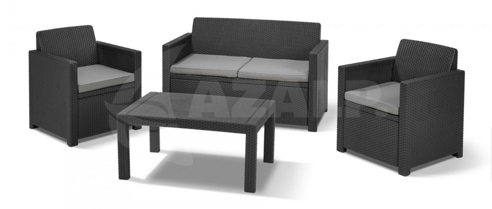 Allibert Merano Lounge Set Graphite Kopen Bij Azalpnl von Allibert Lounge Set Merano Photo