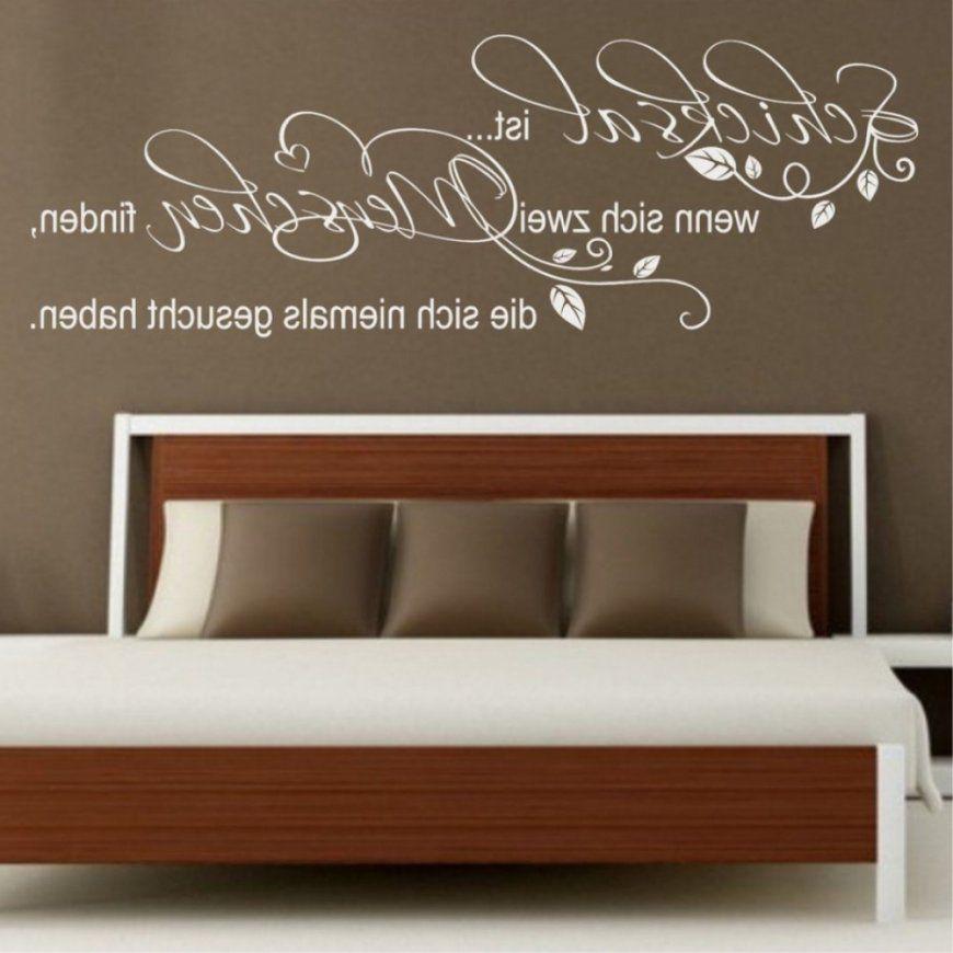 Am Meisten Erstaunlich Zusammen Mit Atemberaubend Wandtattoos von Sprüche Für Die Wand Schlafzimmer Photo