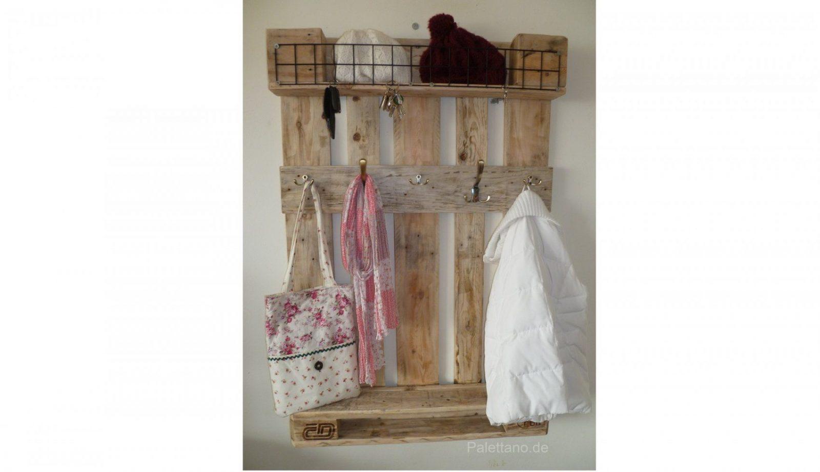 Andere In Bezug Auf Garderoben Garderobe Mit Schlüsselbrett Aus Euro von Garderobe Aus Paletten Selber Bauen Bild
