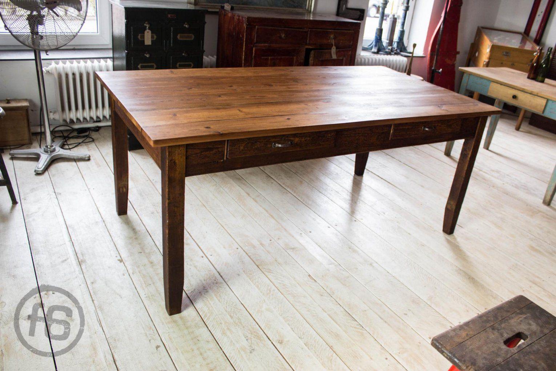 Antiker Esstisch  Hermanlit Möbel von Antiker Esstisch Mit Stühlen Bild