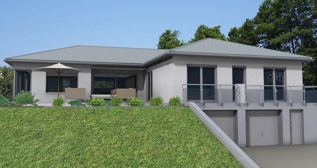 Architektenhaus Im Bungalowstil In Uttenreuth  Dörr Haus Gmbh von Garage Im Keller Hanglage Photo