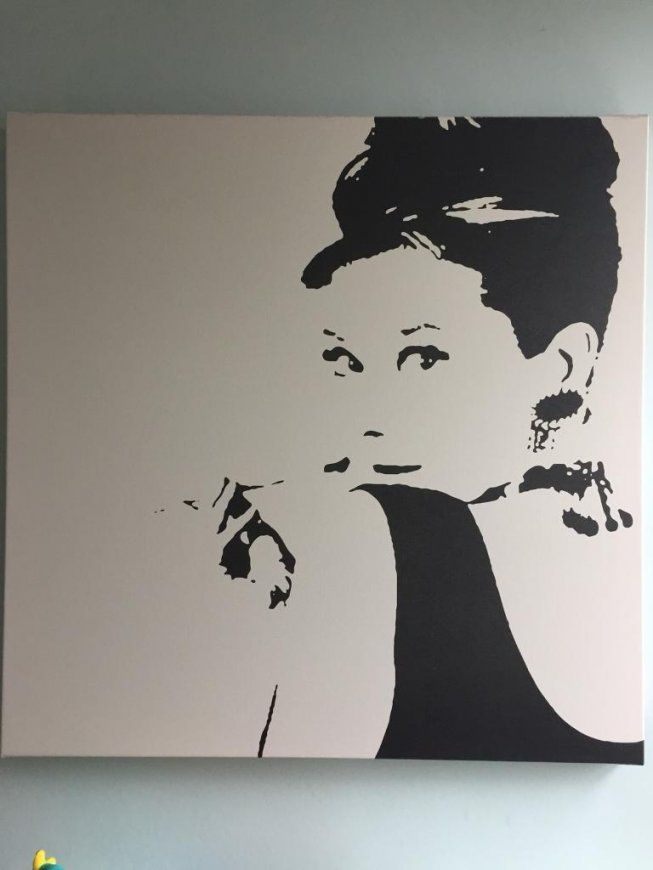Audrey Hepburn Ikea Print On Canvas  In Watford Hertfordshire von Audrey Hepburn Bild Ikea Photo