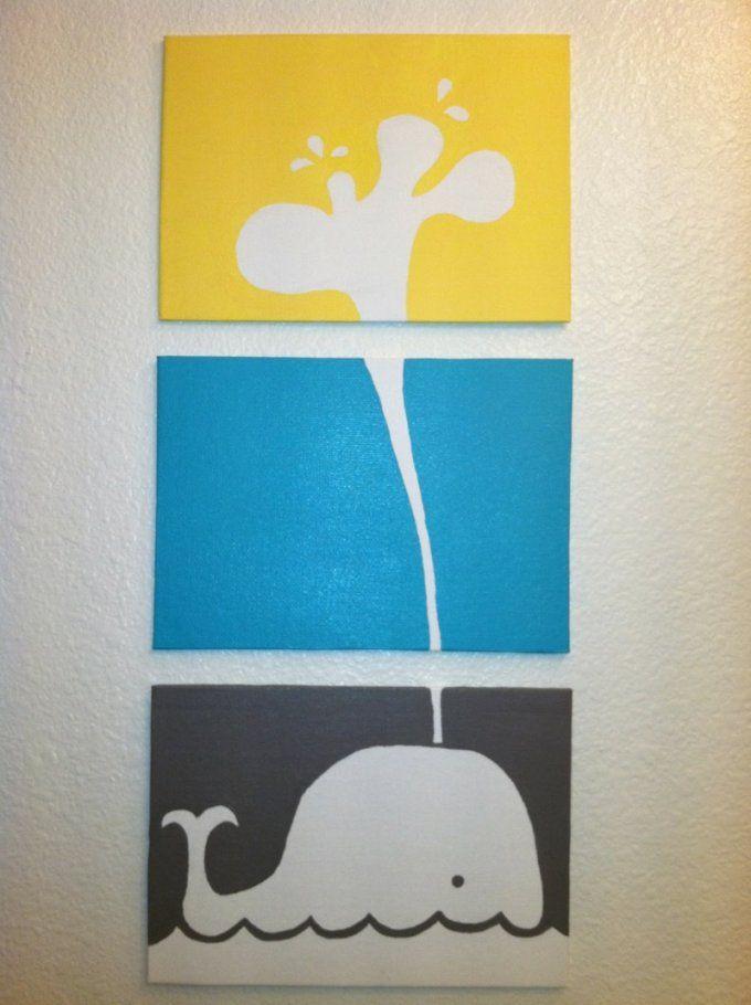 Auf Leinwand Malen  37 Originelle & Einfache Ideen Mit Anleitung von Bilder Für Kinderzimmer Auf Leinwand Selber Malen Photo