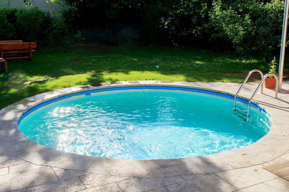 Aufregend Pool Im Garten Bauen Huv Design Eingebauter Genial Kosten von Pool Im Garten Kosten Photo