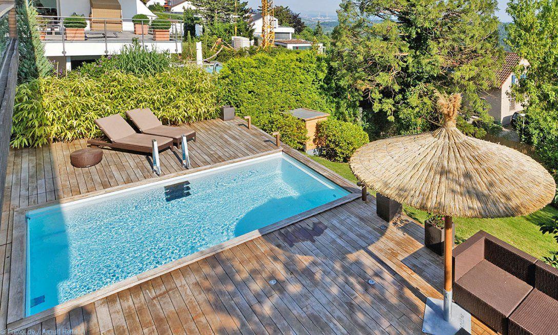 Außenpool Neues Vergnügen  Poolmagazin von Pool Im Garten Integrieren Bild
