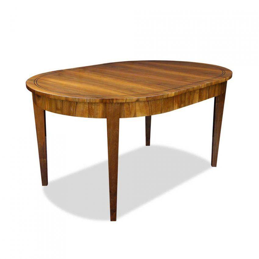 Ausziehbarer Ovaler Esstisch Aus Nussbaum Bei Stilwohnen von Esstisch Oval Holz Ausziehbar Photo