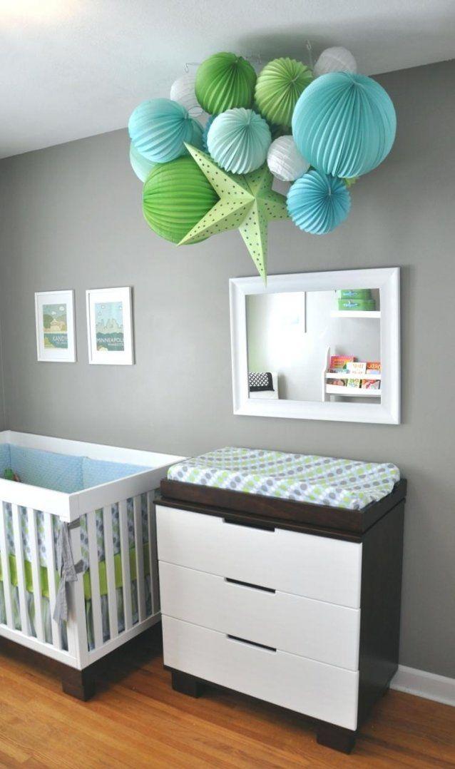 Babyzimmer Deko Ideen Dekorieren 38 Mit Papierlaternen Und Pompoms von Dekoideen Kinderzimmer Selber Machen Bild
