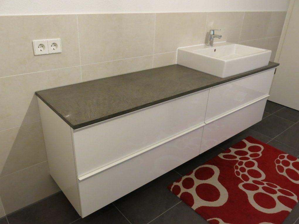 Bad Waschtisch Und Diy Konsole Mit Beton Ciré Und Ikea Godmorgon von Godmorgon Waschbeckenschrank Mit Anderen Waschbecken Bild