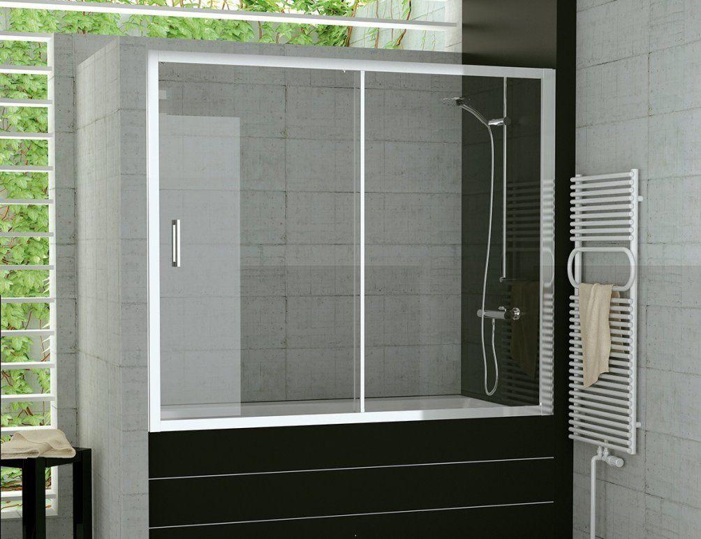 Badewanne Duschaufsatz Schiebetür 120 X 150 Cm Duschwand Glas von Duschwand Glas Für Badewanne Photo