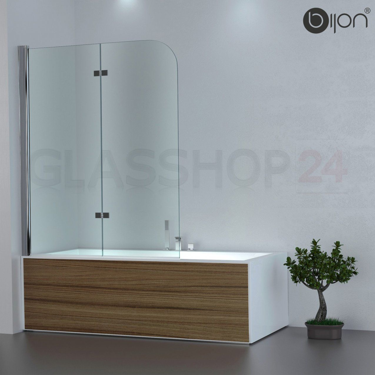 Badewannen Duschabtrennung Badewannenaufsatz Faltwand Glas Duschwand von Duschwand Glas Für Badewanne Bild