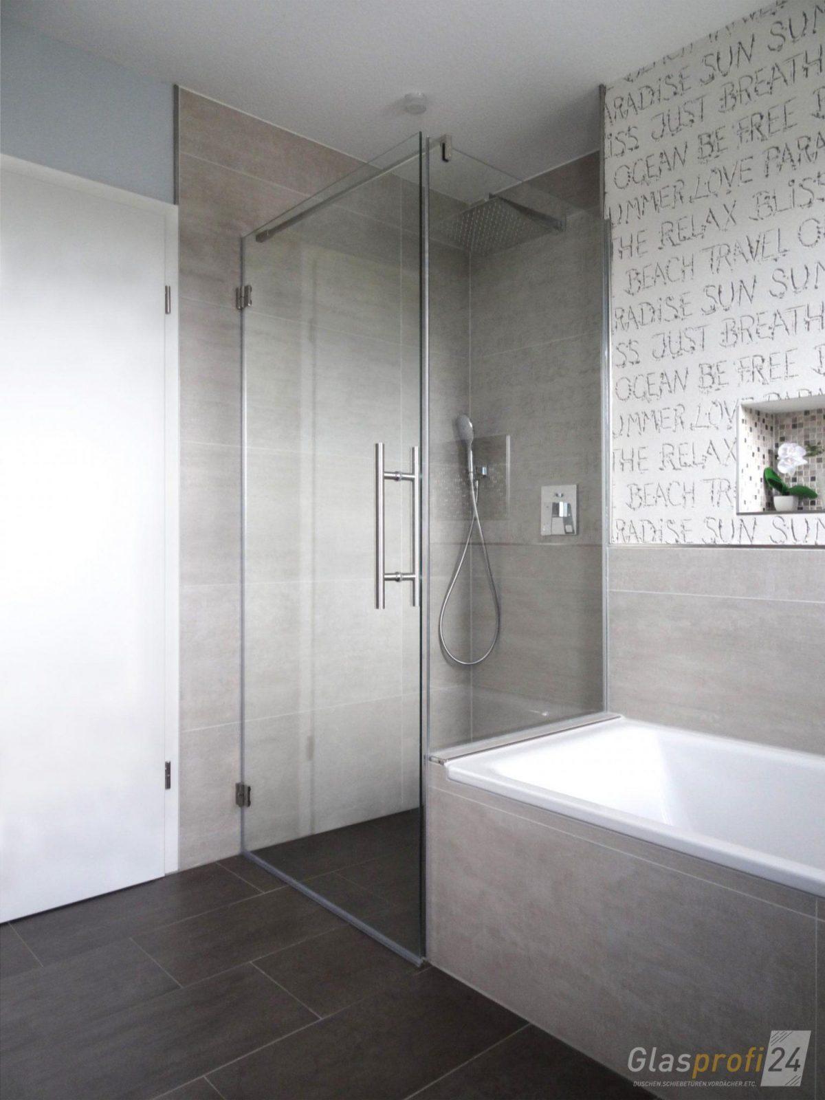 Badewannenanschluss Als Glasdusche  Glasprofi24 von Duschwand Glas Für Badewanne Photo
