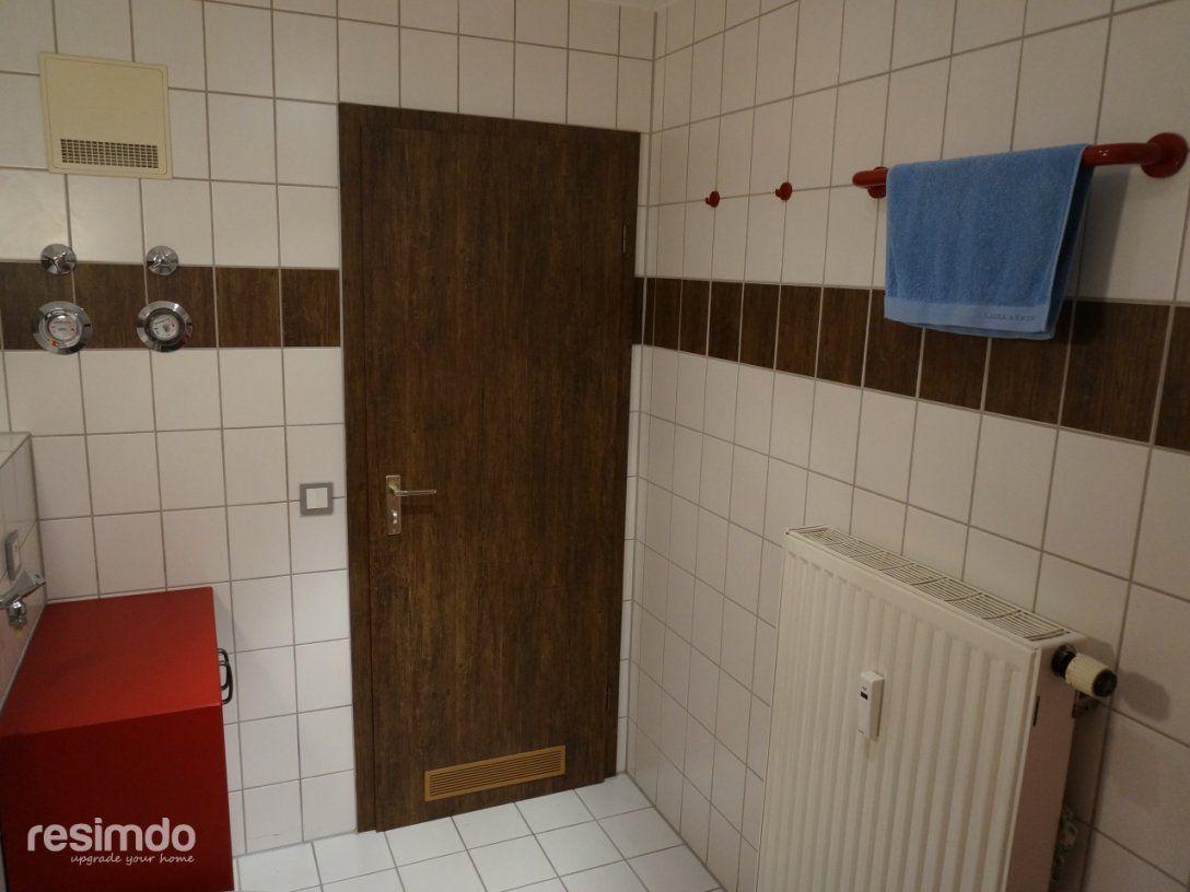 Badezimmer Ideen  Badfolie  Resimdo von Fliesen Überkleben Vorher Nachher Bild