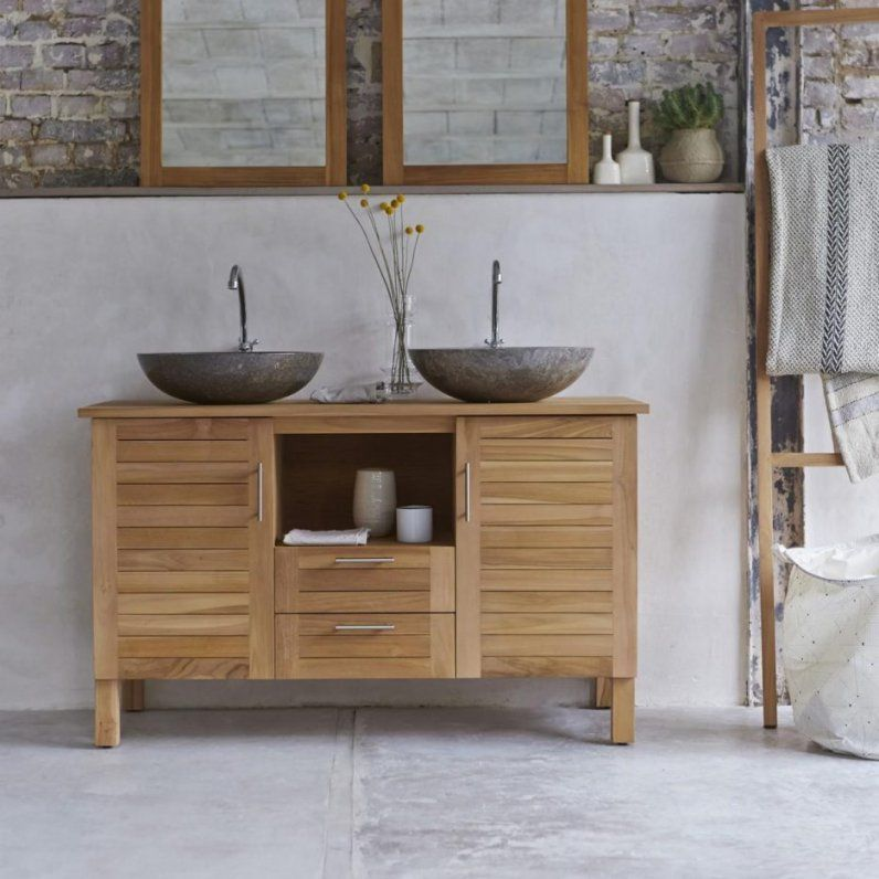 Prächtig Badezimmer Inspiration Ansprechend Waschbeckenunterschrank Holz &JG_36