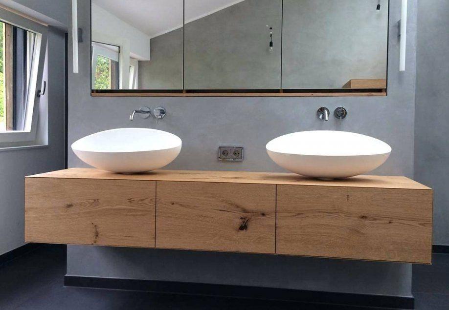 Badezimmer Inspiration  Schön Waschbecken Holz Rainylehrman About von Waschbecken Aufsatz Mit Unterschrank Bild