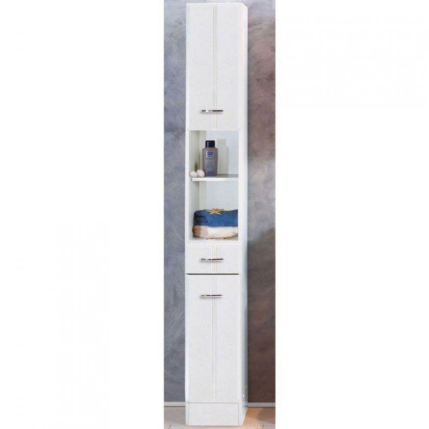 Badezimmer Schrank Toulouse In Weiß  Pharao24 von Badezimmerschrank Schmal Und Hoch Bild