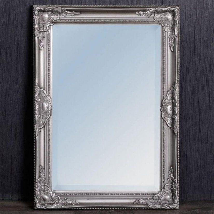 Badezimmer  Wandspiegel Blendend Silber Rahmen Ovaler Barock von Barock Spiegel Silber Groß Photo