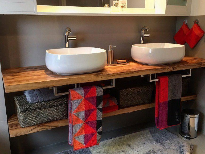 Badezimmer  Waschbecken Unterbau Waschbeckenunterschrank Bambus von Unterschrank Für Aufsatzwaschbecken Selber Bauen Bild