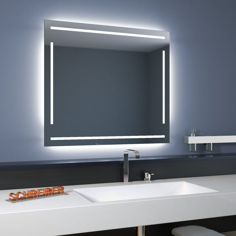 Badspiegel Linea Led 4S  Moderne Led Lampen von Badspiegel Mit Beleuchtung Und Steckdose Bild