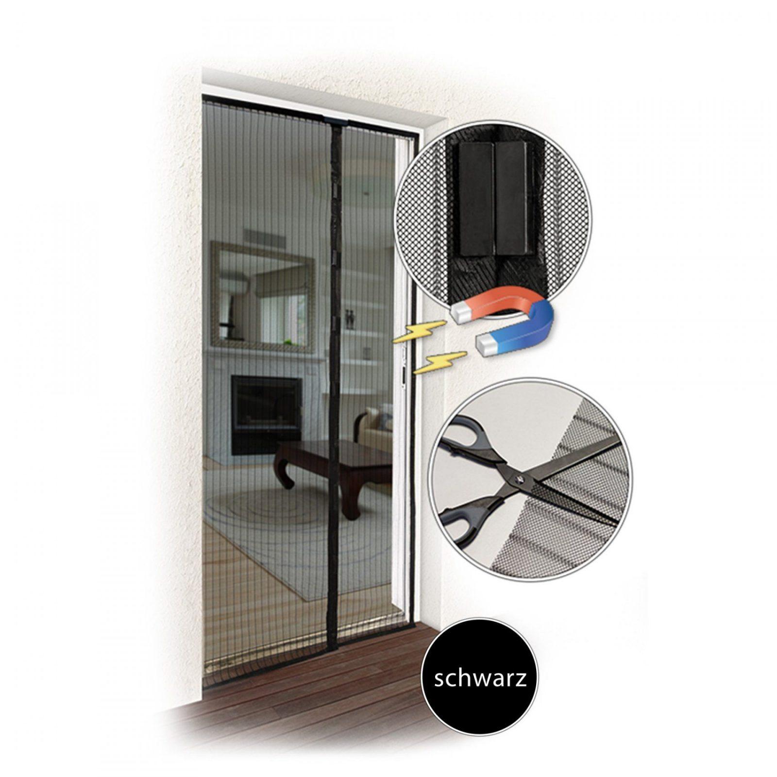 Balkontür Netz Magnetvorhang Fliegenschutz Mücken Insektenschutz von Fliegengitter Magnetvorhang Für Türen Bild
