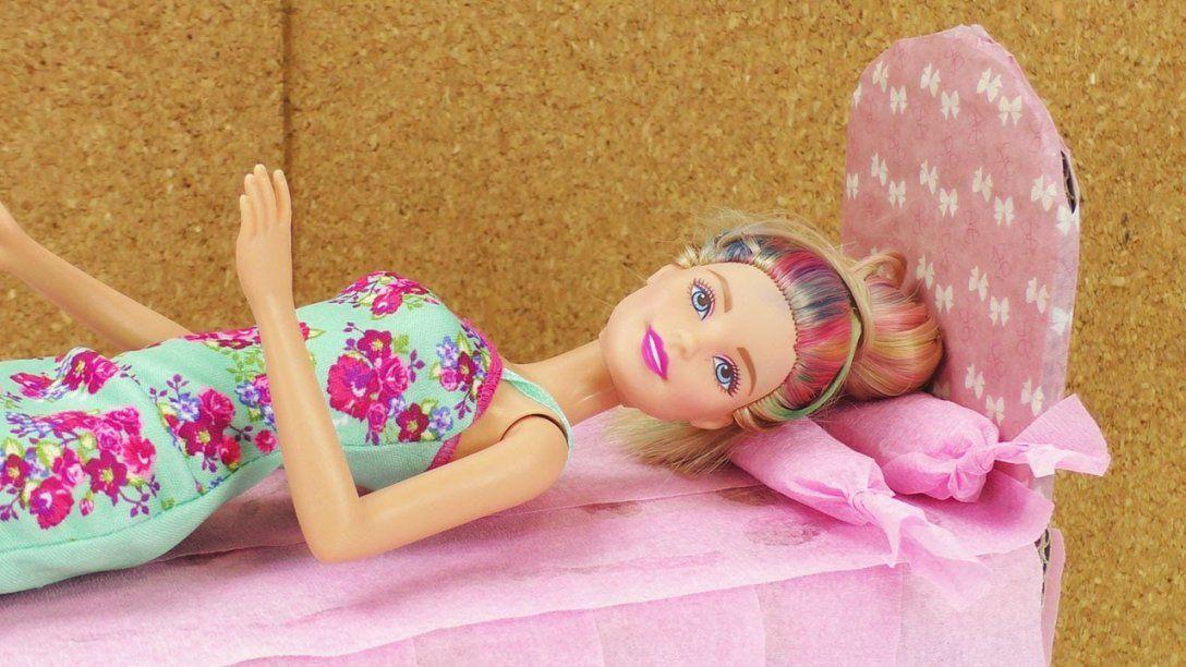 Barbie Bett Selber Basteln  Aus Alt Mach Neu  Karton Wird Zu von Barbie Bett Selber Bauen Bild