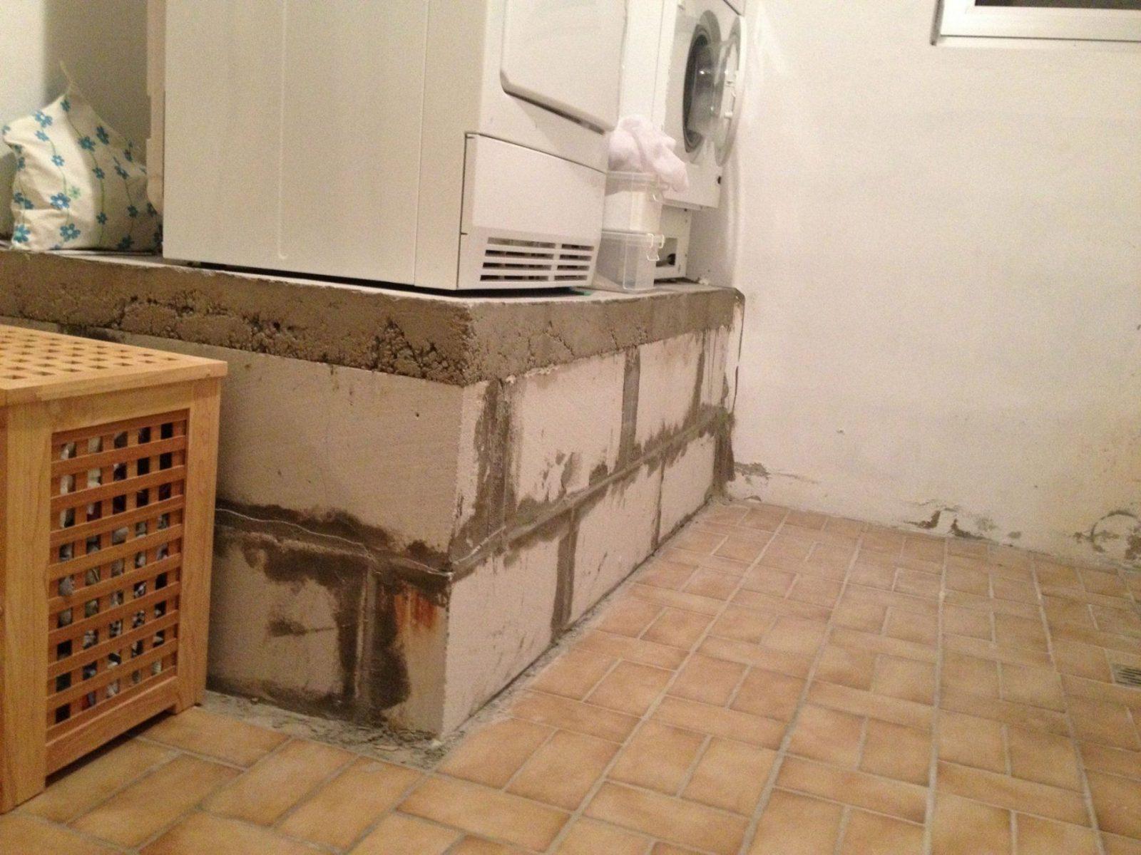 Bau Eines Waschmaschinenpodests  Teil 1  Operation Eigenheim von Waschmaschinen Podest Selber Bauen Holz Bild