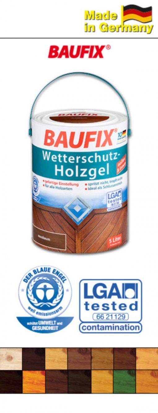 Baufix Wetterschutzholzgel 5 Liter Von Norma Ansehen  Discounto von Artico Wetterschutz Holzgel Palisander Photo